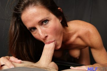 MILF adult star Sofie Marie gets a mouthful of cock at milftrip.com