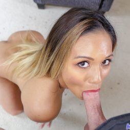 Sucking cock horny asian milf pussy gets ready to fuck
