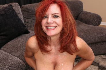 Andi takes a load of cum on her tits like all hot milf pornstars should