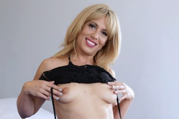 Sexy blonde milf undresses for our milf trip camera