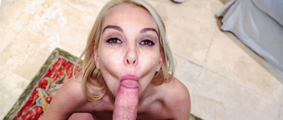 Beautiful Blowjob from sexy blonde