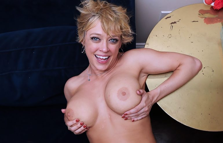 Nude Dee Williams gets fucked while she plays with her massive tits